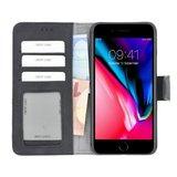 Pearlycase® iPhone 6/6S Plus Zwart Wallet Book Case Echt Leer Hoesje met Pashouders