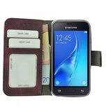 Wallet Bookcase Hoesje voor Samsung Galaxy J1 Mini (Prime) - Fashion Paars