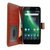 Wallet-Bookcase-Hoesje-voor-Nokia-2-Fashion-Bruin