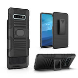 Pearlycase Multifunctionele hoesje Robuuste Holster case zwart met magneet adsorptie voor Samsung Galaxy S10 inclusief Magnetische Car Mount _9