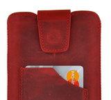 Pearlycase Echt Leder Pouch Pocket Insteekhoesje Antiek Bordeaux Rood Apple iPhone XS Max_9