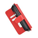 Pearlycase Hoes Wallet Book Case Rood voor Nokia 2.2 _9