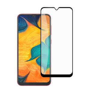 Pearlycase Tempered Glass / Glazen Screenprotector Full Cover Zwart voor Samsung Galaxy A50 Gehard Glas