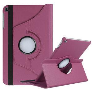 Pearlycase Hoesje 360° Draaibare Case Beschermhoes Paars voor Samsung Galaxy Tab A 10.1 2019 (T510-T515)