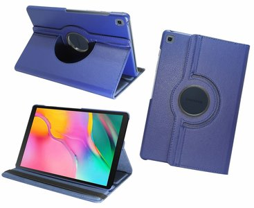 Pearlycase Hoesje 360° Draaibare Case Beschermhoes Donkerblauw voor Samsung Galaxy Tab A 10.1 2019 (T510-T515)