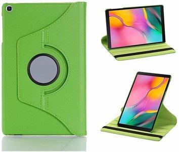 Samsung Galaxy Tab A 10.1 2019 (T510-T515) hoes Pearlycase... Kunstleder Hoesje 360° Draaibare Book Case Bescherm Cover Groen