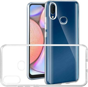 Samsung Galaxy A10s hoes TPU Siliconen Case Cover Transparant Hoesje Pearlycase