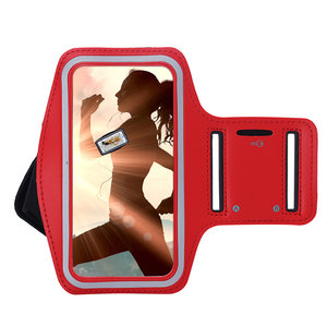 Huawei Mate 30 Pro hoes Sportarmband Hardloopband hoesje Rood Pearlycase