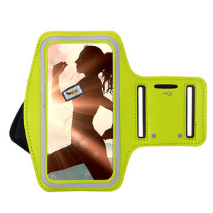 Oppo Reno 3 hoes Sportarmband Hardloopband hoesje Geel Pearlycase