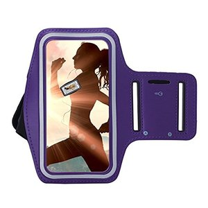 Oppo Reno 3 hoes Sportarmband Hardloopband hoesje Paars Pearlycase