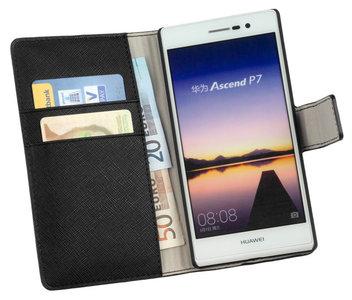Huawei Ascend P7 - Wallet Book Case / cover Y - Zwart