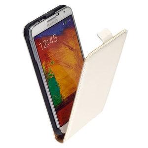Pearlycase Lederlook Flip case klap hoesje cover Samsung Galaxy Note 4 - Lederlook Flip case klap hoesje cover - Wit