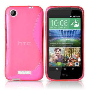 Scase Roze HTC Desire 320 - TPU Silicone Case S Style/Hoesje Roze
