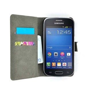 Samsun,galaxy,trend,lite,book,style,wallet,case.zwart