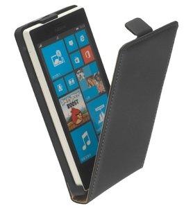 Microsoft-lumia-640-xl-lederlook-flip-case-hoesje-zwart