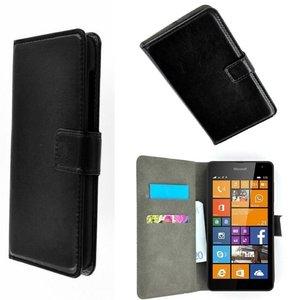 Microsoft,lumia.640-xl-book-style-wallet-case-zwart