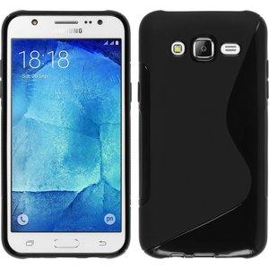 Samsung,galaxy,j7,hoesje,slicone,case,zwart