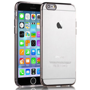 Apple iPhone 6 - TPU Silicone Case cover/ Hoesje - Transparant - Smoke
