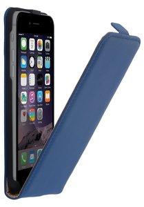 apple iphone 7 smartphone hoesje leder flip case blauw. Black Bedroom Furniture Sets. Home Design Ideas