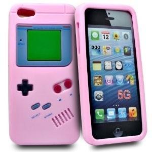 Roze Gameboy TPU Hoesje voor iPhone SE