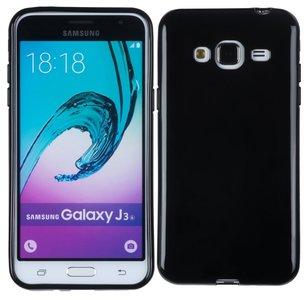 Samsung Galaxy J3 2016 Smartphone Hoesje Tpu Siliconen Case Zwart