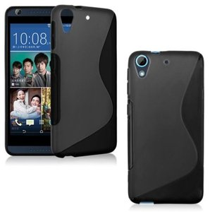 HTC Desire 530 smartphone hoesje tpu siliconen case s-line zwart