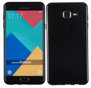 Samsung Galaxy A7 2016 smartphone hoesje tpu siliconen case zwart