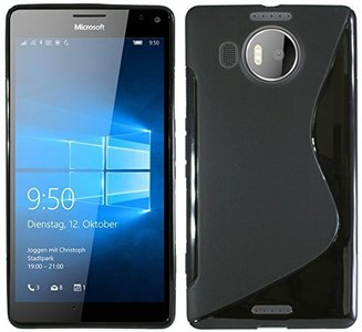 Microsoft-lumia-950-xl-slicone-case-zwart