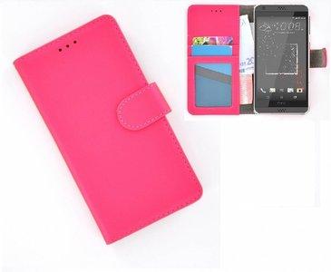 HTC-Desire-530-smartphone-hoesje-wallet-book-style-case-roze