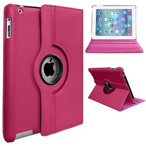 Roze-360°-draaibare-tablethoes-voor-iPad-9.7
