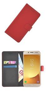 fb8426f0eb9 Rood Luxe Bookcase Wallet hoesje voor Samsung Galaxy J5 2017 ...