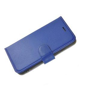 Pearlycase®-Samsung-Galaxy-S8-Plus-Hoesje-Handgemaakt-Echt-Leder-Wallet-Bookcase-Donkerblauw-Effen