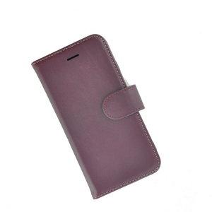 Pearlycase®-Samsung-Galaxy-S8-Plus-Hoesje-Handgemaakt-Echt-Leder-Wallet-Bookcase-Paars-Effen