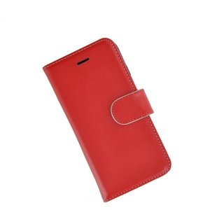 Pearlycase®-Samsung-Galaxy-S8-Plus-Hoesje-Handgemaakt-Echt-Leder-Wallet-Bookcase-Rood-Effen