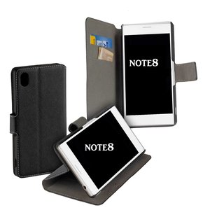 Zwart-Bookstyle-Y-Wallet-Case-Hoesje-voor-Samsung-Galaxy-Note-8