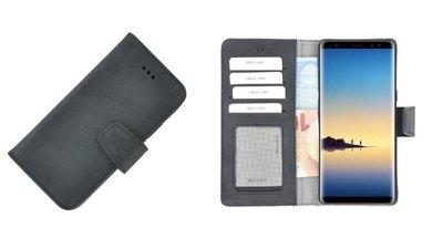 Pearlycase® Wallet Book Case Samsung Galaxy Note 8 Echt Leer Zwart Hoesje met Pashouders
