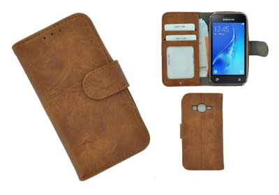 Wallet Bookcase Hoesje voor Samsung Galaxy J1 Mini (Prime) - Fashion Bruin