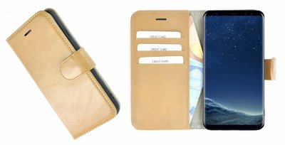 Pearlycase®-Samsung-Galaxy-S8-Hoesje-Echt-Leer-Wallet-Bookcase-Camelbruin