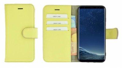 Pearlycase®-Samsung-Galaxy-S8-Hoesje-Echt-Leer-Wallet-Bookcase-Geel