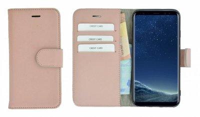 Pearlycase®-Samsung-Galaxy-S8-Hoesje-Echt-Leer-Wallet-Bookcase-Lichtroze