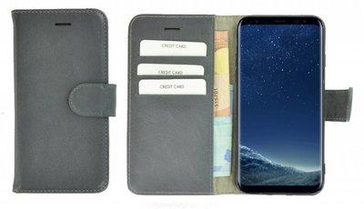 Pearlycase®-Samsung-Galaxy-S8-Hoesje-Echt-Leer-Wallet-Bookcase-Ijzergrijs