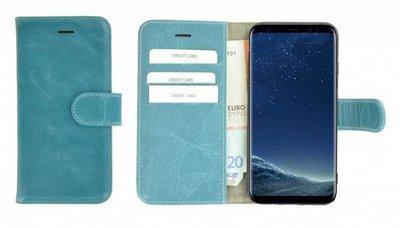 Pearlycase® Samsung Galaxy S8 Hoesje Echt Leer Wallet Bookcase Turquoise