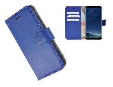 Pearlycase®-Samsung-Galaxy-S8-Hoesje-Echt-Leer-Wallet-Bookcase-Blauw