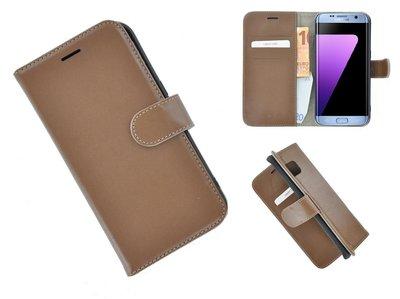 Pearlycase®-Samsung-Galaxy-S7-Edge-Hoesje-Echt-Leer-Wallet-Bookcase-Bruin