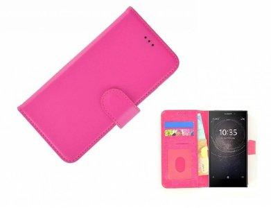 Wallet Bookcase Hoesje voor Sony Xperia L2 - Fashion Roze
