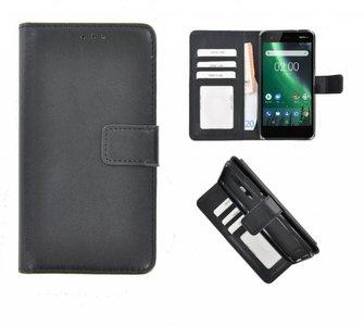 Wallet-Bookcase-Hoesje-voor-Nokia-2-Fashion-Zwart
