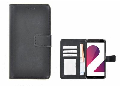 Fashion-Zwart-Wallet-Bookcase-Hoesje-Huawei-P-Smart