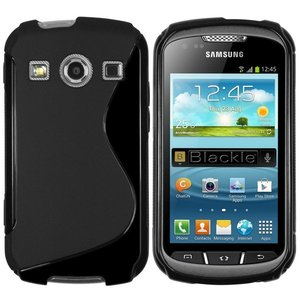 Samsung,galaxy,xcover,2,hoesje,slicone,case,zwart