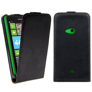 Nokia Lumia 625 hoesje - Lederlook Flip case cover  - Zwart