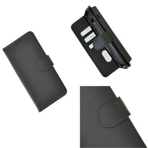 Pearlycase Hoes Wallet Book Case Zwart voor Sony Xperia XA3